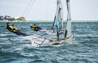 ISV and USA take last 49erFX spots at ISAF Sailing World Cup Miami